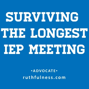 surviving the IEP meeting