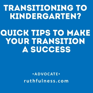 transistion to kindergarten