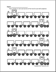 train behavior chart